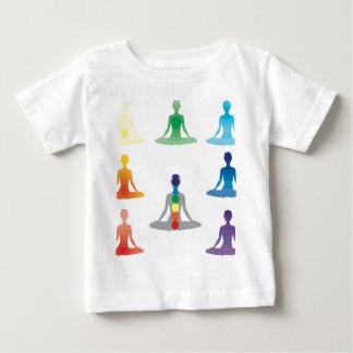 Chakra 7 colors aura chi prana yogi yoga lotus infant T-Shirt