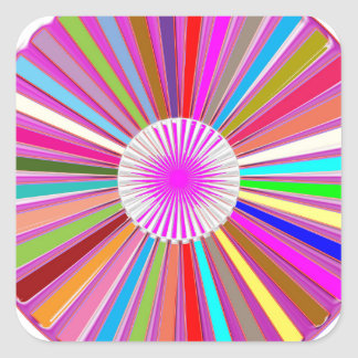 CHAKRA Wheel Round Colorful Healing Goodluck Decor Square Sticker