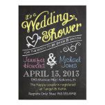 Chalkboard Couples Wedding Shower Invitation