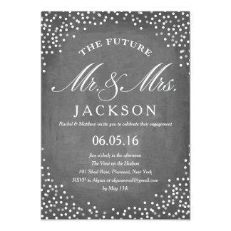 Chalkboard Future | Engagement Party 13 Cm X 18 Cm Invitation Card