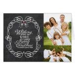 Chalkboard Mistletoes Christmas Holiday Greetings Greeting Card