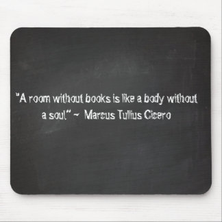 Chalkboard quotes - Cicero Mouse Pad