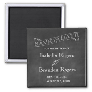 Chalkboard Save the Date Magnet