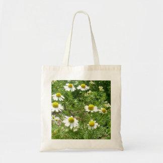 chamomile Flowers Budget Tote Bag