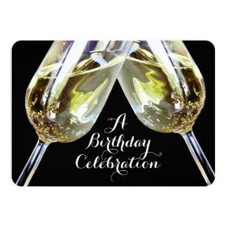 Champagne Toast 50th Birthday 11 Cm X 16 Cm Invitation Card