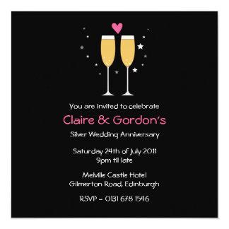 Champagne Toast Anniversary Party Invitation