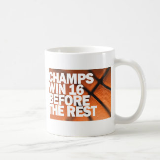 CHAMPS WIN 16 BEFORE THE REST BASIC WHITE MUG