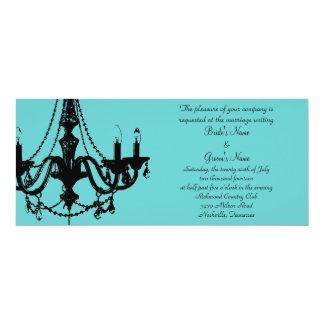 Chandelier Love - Personalize the color! 10 Cm X 24 Cm Invitation Card