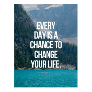 Change Your Life Quote Postcard