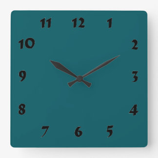 Changeable Numbered Dark Teal Clock