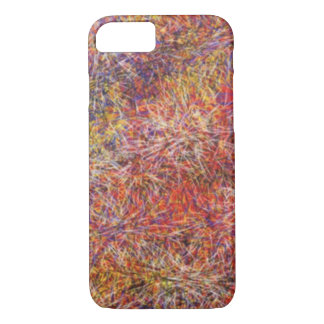Chaotic abstract multicolored pattern iPhone 7 case