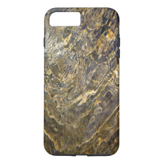 Chaotic Rippling Gold Water Abstract iPhone 7 Plus Case