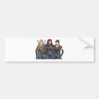 Character Banner Bumper Sticker