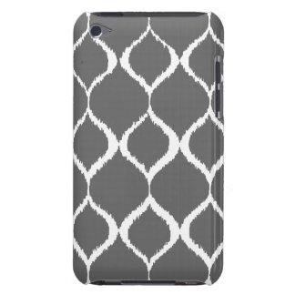 Charcoal Gray Geometric Ikat Tribal Print Pattern iPod Touch Covers