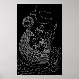 Charles and Rufus as Vikings Poster