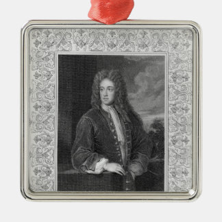 Charles Talbot, Duke of Shrewsbury Silver-Colored Square Decoration