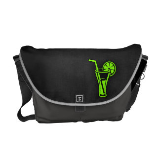 Chartreuse, Neon Green Cocktail Messenger Bags