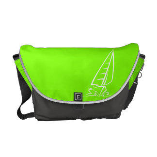 Chartreuse, Neon Green Sailing Courier Bag