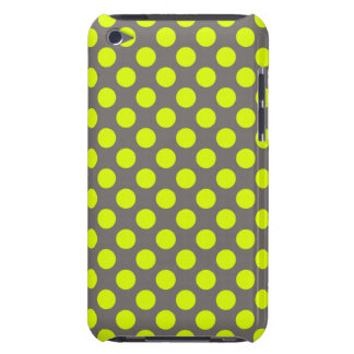 Chartreuse Yellow Charcoal Gray Polka Dots iPod Touch Case-Mate Case