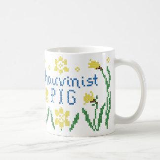 Chauvinist Pig Cross Stitch mug