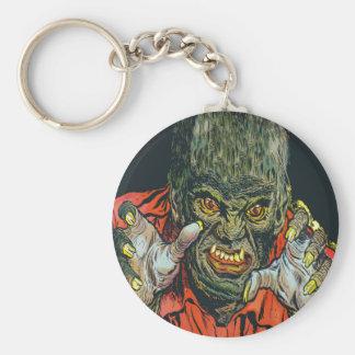 chaveiro monster basic round button key ring
