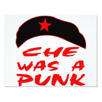 Che Was A Punk 11 Cm X 14 Cm Invitation Card