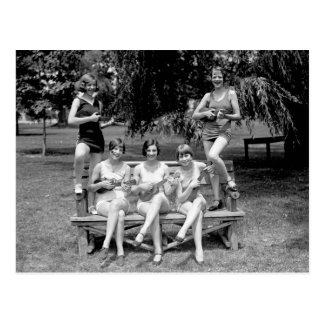 Check Out Those Ukuleles! - 1920s Postcard