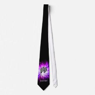 Checkered Flag; purple Tie