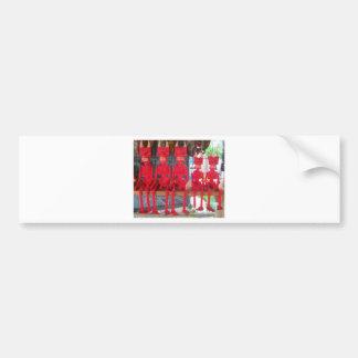 Cheerful Red Little Mexican Devils sitting around Bumper Sticker