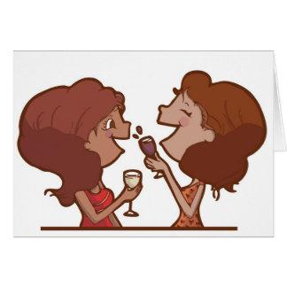 Cheers - Girlfriends Greeting Card