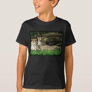 Cheetahs Lounging Grunge T-shirts