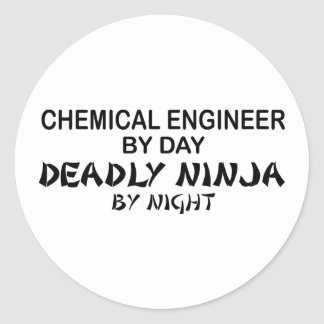 Chemical Engineer Deadly Ninja by Night Round Sticker