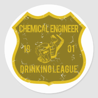Chemical Engineer Drinking League Round Sticker