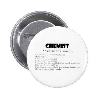 Chemist Definition 6 Cm Round Badge