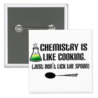 Chemistry Cooking 15 Cm Square Badge