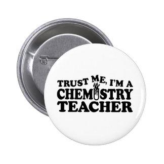 Chemistry Teacher 6 Cm Round Badge