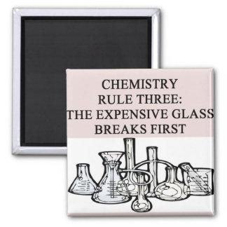 chemistry: the epensive glass breaks first square magnet
