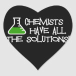 Chemists Have All The Solutions Heart Sticker