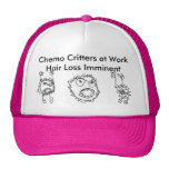 Chemo Critters at Work - Pink Cap
