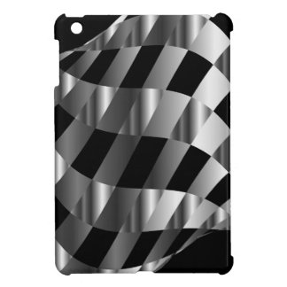 chequered metallic background cover for the iPad mini