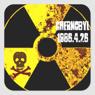 Chernobyl 25th year memorial square sticker