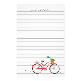 Cherries Bicycle Customized Stationery