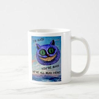 Cheshire Cat: We're All Mad Here! (Wonderland) ~ Basic White Mug