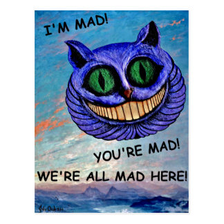Cheshire Cat: We're All Mad Here! (Wonderland) ~ Postcard