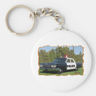 Chevrolet Black and White. Basic Round Button Key Ring