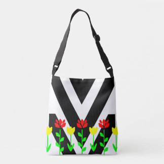 Chevron and Flowers Modern Floral Art Tote Tote Bag