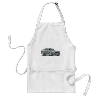 Chevy Nova Silver Car Standard Apron