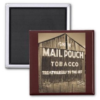 Chew Mail Pouch Tobacco Barn Square Magnet