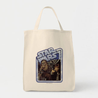 Chewie and Han Grocery Tote Bag