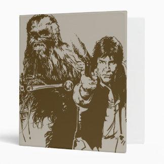 Chewie and Han Silhouette Binders